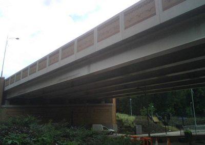 Pigeon Spiking road bridge in south london 1