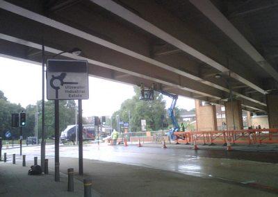 Pigeon Spiking road bridge in south london 3